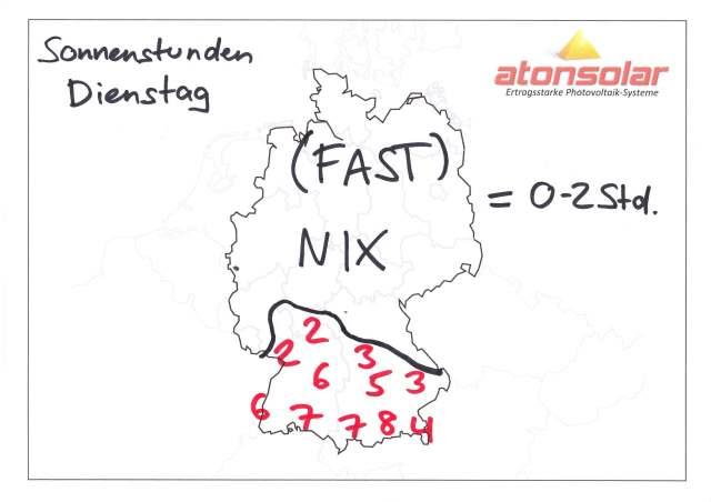 atonsolar-Sonnenvorhersage für den Dienstag, 11.10.11