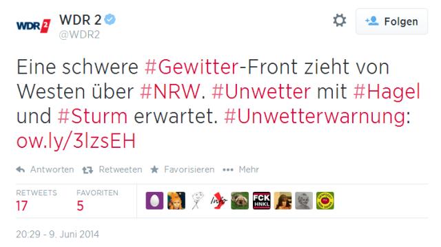 WDR2warnung